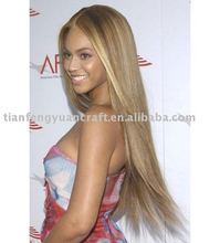 Beyonce style realistic hairline synthetic lace wig