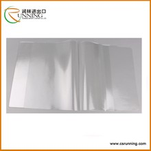 high quality clear protective plastic book cover