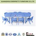 De plástico de la escuela de mesa y una silla para niños, niños de mesa y sillas, muebles de los niños