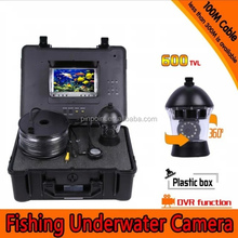 150m 360 rotation Underwater fish camera with water temperature water depth