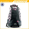 flower pattern large capacity women cheap trolley backpack trolley backpack with wheels trolley for backpack