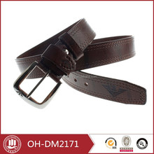 2015 fashion brown leather belt for man