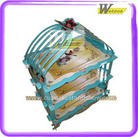 hot sale supermarket and promotion 3 tiers covered cupcake stand for kids birthday party