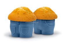 Fred and Friend Jeans shape silicone cup cake