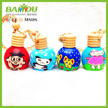 wholesale 15ml polymer clay glass bottle car air freshener