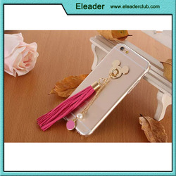for iphone 6s ultra tpu soft case with fringe