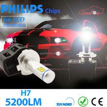 Qeedon 2015 newest h7 phi lips bulbs car led headlight 12 volt lumileds