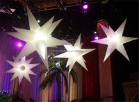 CE certification party decorations multi-color inflatable led star