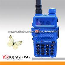 Doble banda! UHF + VHF comercial handheld azul digital radio de dos vías KL-Y3