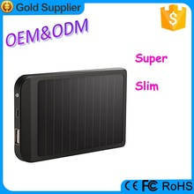 Aluminum super slim rechargeable safe battery solar power for iphone 4/5/6
