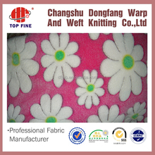 Made to order floral velvet,fashion design printed comfortable polyester fabric velboa fabric
