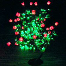New launched led artificial flowers rose with clear leaves and flowers