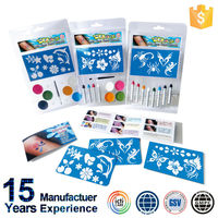 Playful Kid And Children Face Paint Crayon With Stickers