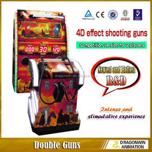 Arcade shooting game machine for kids and parents playing double shooting guns