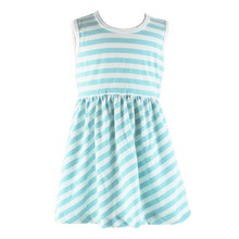2015 Hot Sale Latest Design High Quality Child Kids Baby Girl Summer Ruffle Knitted Pattern Cotton Dresses