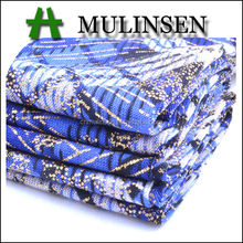 Mulinsen Textile New Design FDY Foil Knitting Polyester Diamond Check Fabric