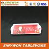 Red Color Food Grade Wholesale Melamine Plastic Kids Food Tray