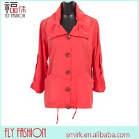 01-64# small MOQ orange Middle age women whistles plus size coat primark coats with butterfly monsoon coats