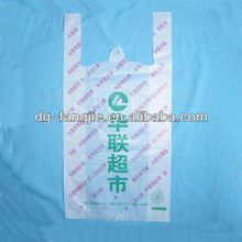 Recycled degradable material T- shirt Bag