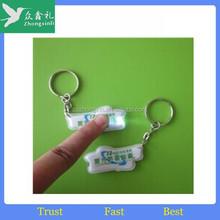 wholesale pu leather keychain led/rectangle dog shaped led keychain for promotion