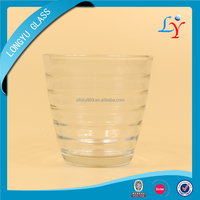 1537 best selling round circle design 180ml shaped drinking glass water