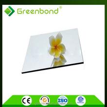 Greenbond high density interior wall material aluminium composite panels
