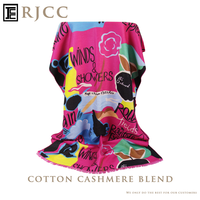2015 Fashionable Cashmere Cotton Scarf with Apple Pattern