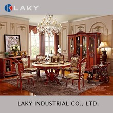 859 Marble or wooden round dining set with dining car
