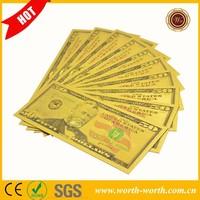 Promotional gifts 3D America $ 50 us Dollar 24k gold banknote, 24k gold foil banknote For Wholesale