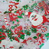 100% Polyester christmas flower printed organza fabric for christmas decoration