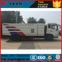 New design Road sweeper truck with water spraying function floor sweeper truck street cleare truck