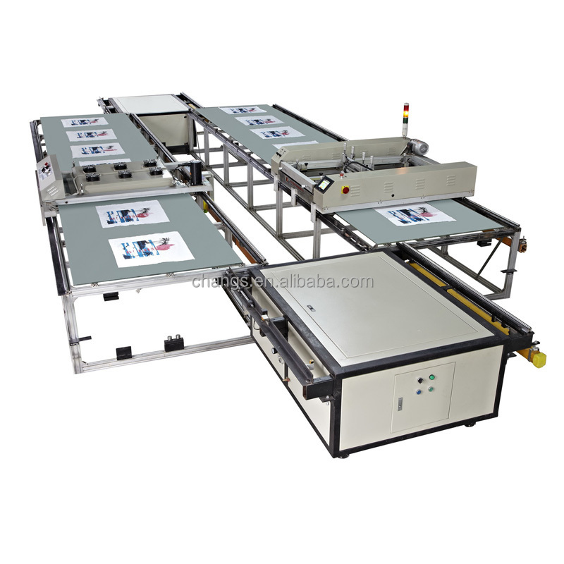 automatic flatbed screen printing machine