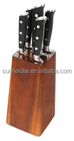 Elegant Good Quality Stainless Steel kitchen knife with Acacia wooden holder