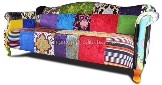 moderne color conception spciale patchwork double canap en espagnol style bf11 03241a - Canape Colore