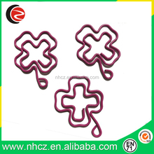 Pink Flower Shaped Paper Clips