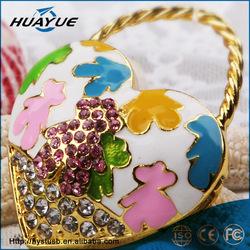 Fashion luxury handbag shape mini usb flash drive for woman