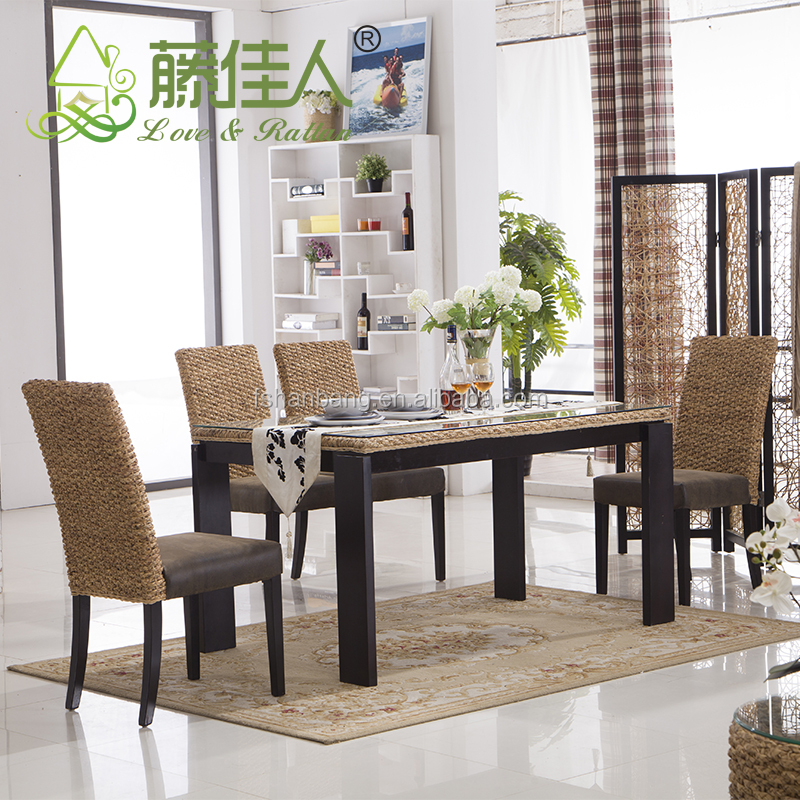 Java Home Living Sunroom Natural Rattan_60335168379 on Water Hyacinth Dining Chairs