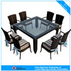 Modern stylish garden furniture rattan dining table and chairs