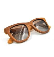 2015 100% Handmade Natural Polarized Sunglasses With UV400 Lens