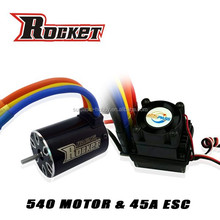Rc car ESC 45A and motor Max Amps 41A combo RC toy - 1/10th Scale 4wd Brushless Moto rPowered off-Road Buggy Booster-Pro