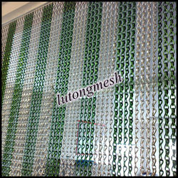 2015 anodized aluminum fly screen metal chain curtain for door curtain
