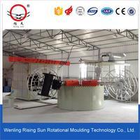 3.5m carrousel rotomolding heating plastic fish farm tank floor cleaning machine