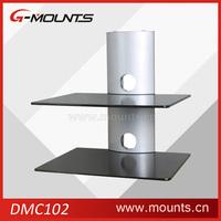 Glass set-top box tv mount dvd wall bracket shelf,tv and dvd wall bracket