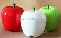 Apple Shape Various Colors Plastic PS Food Storage Box Container