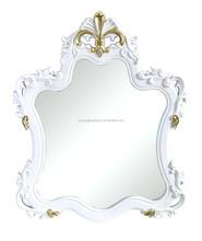 Plastic baroque framed mirror