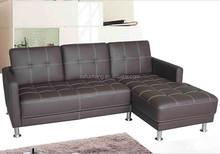 Modern style cheap living room ikea round luxury mini corner sofa Synthetic/Pu/Faux/leather L shape sectional sofa