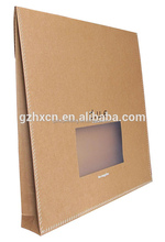 Guangzhou Wholesale Cheap Unique Window Brown Bags Paper , Brown Kraft Paper Bags without Handle