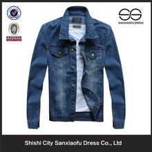 New Design Fashion Denim Jackets Men, Slim Fit Custom Blue Man Jean Jacket Wholesale
