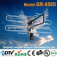 360 degree remote-controlled rotatable 20-28DB tv antenna model no.GR-850D