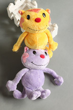 Plush Toy Big Face Kitten/High Quality Stuffed Toy Smiling Cat with Sucker /Stuffed Animal Toy Cat